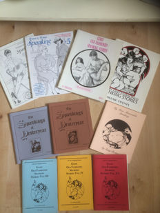 Spanking; Lot with 10 American spanking publications-1985/1995