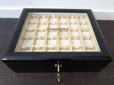 Pandora black original lacquer box for keeping 48 charms.