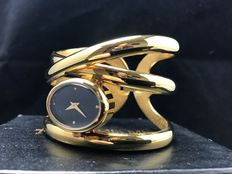 Franklin Mint - golden ribbons cuff wrist watch