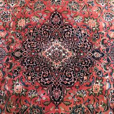 Magnificent Persian palace rug: Sarough Feraghan 283 x 198 cm ca. 1970 !