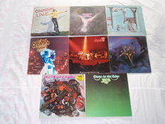 A Superb Lot Of 8 Rock Progressive Lps: Colosseum, Emerson Lake & Palmer, Genesis, Jethro Tull, Man, The Moody Blues, Pink Fairies, Yes!