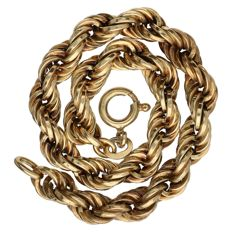 14 kt Yellow gold twisted link bracelet – Length: 19.4 cm