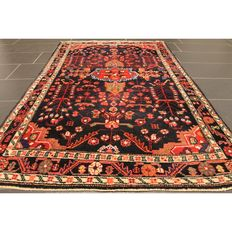 Semi antique Persian Hamadan carpet 190 x 110 cm. Made in Iran circa 1950. Best highland wool. Tappeto Tapis rug old carpet Tapjit