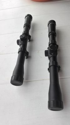 set of 2 shot rifle scopes 4 x 20