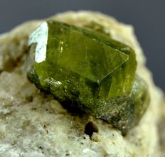 Perfect Terminated Green Damantoid Garnet Crystal  - 55 x 43 x 47 mm - 132gm