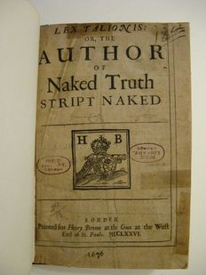 [Philip Fell] - Lex talionis, or, The author of Naked Truth Stript Naked - 1676