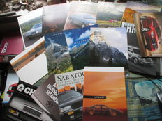 Car brochures (American brands, among others Jeep/Thunderbird/Saratoga/Continental, 19x, 1985-2002)