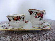 Queens porcelain creamer set Rosina China Co. Ltd. Est. 1875.