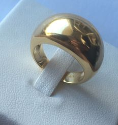 Poiray - Rounded band ring in 18 kt yellow gold - Ring size 54 (FR)