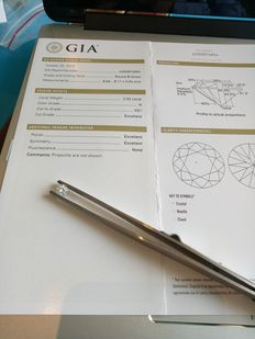 2.02 Ct ,Color H , Clarity VS1 , Round , GIA Certified .