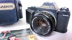 Canon T50 35mm SLR film camera + Canon FD 50mm 1.8 S.C. lens