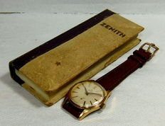 Zenith Pilot Manual Winding Men's Watch-Gold Plated Case-Vintage-1950's