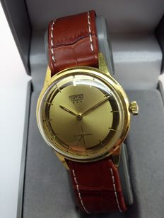 PONTIAC Nageur - Swiss made - men's watch - 1960s - 16 Jewels - Gold plated 20 micron
