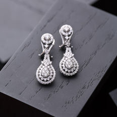 1.50 ct diamond earrings H-VS/SI
