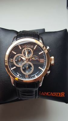 Lancaster Narciso Rose Gold Chronograph Mens Watch
