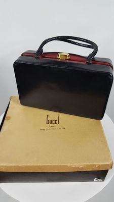 Gucci – Black briefcase – 1970s/80s