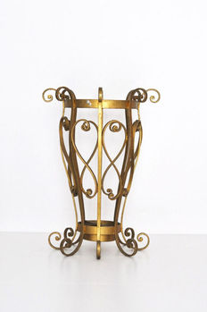 Iron Umbrella Stand in Style of Pier Luigi Colli, Italy, 1950s