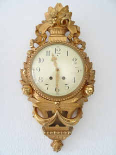 Large, Swedish, gold-plated Cartel clock, 2nd period of the 1900s