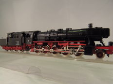 Fleischmann N - 7175 - Steam locomotive with towed tender BR050 of the DB, with cabin tender