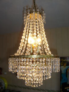 Nice vintage chandelier with Swarovski crystals.