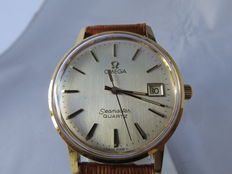 Omega Seamaster Quartz 18 kt gold (Ref. no.: 196.0137) – men's watch 1979