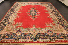 Exclusive hand-knotted Persian Palace carpet age flowers Lawer Kerman 270 x 350 cm carpet