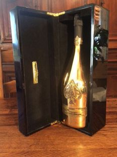Armand de Brignac Ace of Spades Gold Brut Champagne - 1 magnum (1.5ltr) in black laquered original box