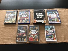 Lot of 8 GTA games(6 and 1 doublepack) for PS2 and PSP