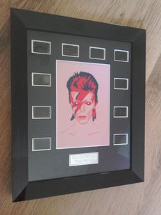 "David Bowie "" Spiders Are From Mars "" framed film cell display."