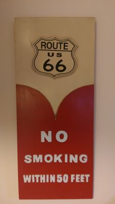 Route 66 - no smoking - wooden sign