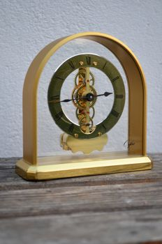 Skeleton table clock - Orfac - 2nd half of the 20th century