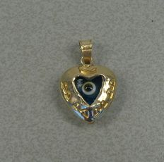 14 kt yellow gold pendant Eye of Fatima