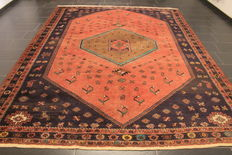 Semi antique hand-woven PERSIAN Oriental carpet made around 1950, Bachtiar Bachtiari, Made in Iran, 260 x 300 cm