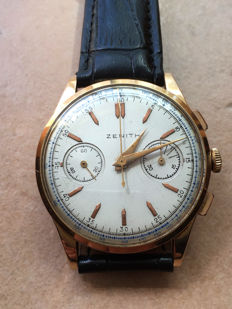 Zenith extra large chronograph – gold – 1960s