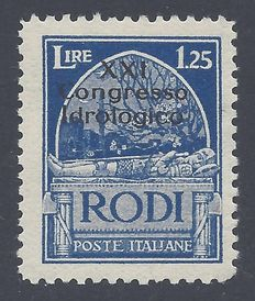 Italy Egeo 1930 - 1,25L Light blue - Sass. N. 18