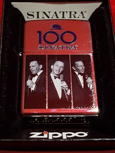 "Zippo Spectrum limited edition 100th Anniversary ""Frank Sinatra"" Nr 3361 of 3500 with original box. Year 2015. NEW"