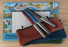 Kaweco Fountain pens in three colours - perfect Condition - Produced in approx. 1964