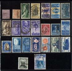 Italy 1863/1952 - selection of used stamps between Michel 21 and 869.