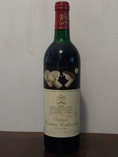 1986 Chateau Mouton Rothschild- Pauillac - 1 bottle - 100/100 Parkers pts