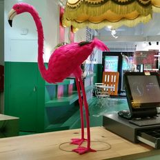 Flamingo pink colour 100cm. stand alone