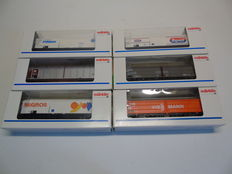 Märklin H0 - Six different freight carriages of DB