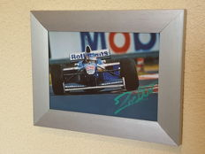Jacques Villeneuve - World champion Formula 1 - original autographed framed photo F1 + COA.