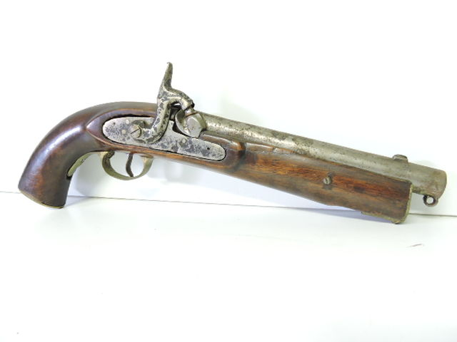 Pistol flintlock beginning Spain end 19th century