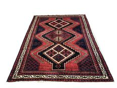 Fantastic oriental carpet: Antique Gashqai 288 x 206 cm around 1970!
