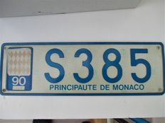 Principaute de Monaco-Principality of Monaco, blue and white - metal 1990