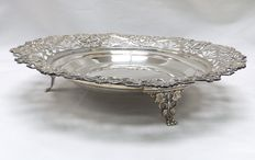 Silver openwork centrepiece or dish, Spain, 20th century.