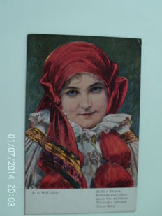 lot of 60 cards on the costumes and portraits