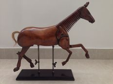 Horse model made of wood