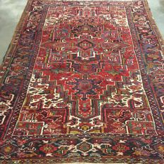 NO RESERVE PRICE!  From €1!!  Old hand-knotted oriental carpet - Indo-Heriz, 330 x 240 cm, around 1950