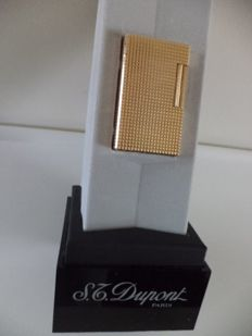 Dupont lighter Diamond Model Gold plated +10 Dupont gas fillings (full)